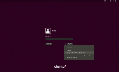 Ubuntu Communitheme login screen session