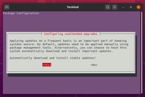 Unattended upgrades Ubuntu 20.04